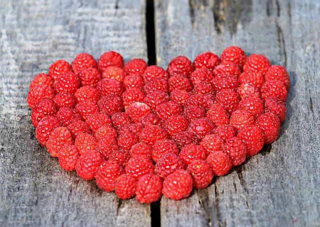 Raspberry, Heart, Fruit, Berry, Red Fruit, Love, Ripe
