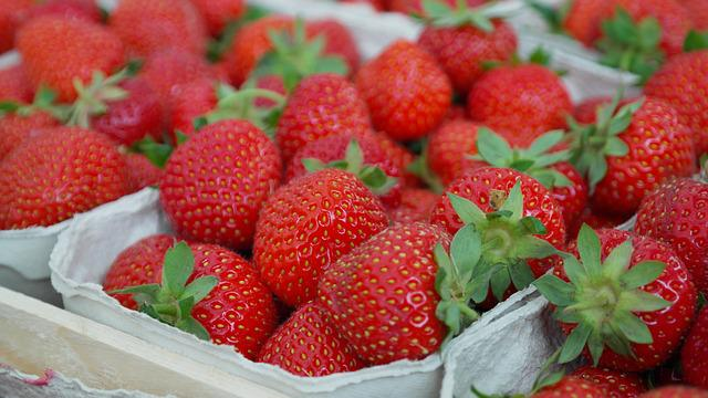 Strawberries, Berries, Fruit, Close Up, Eat, Sweet
