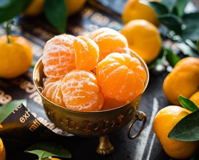 Mandarins, Fruit, Citrus, Sunlight, Food, Tasty