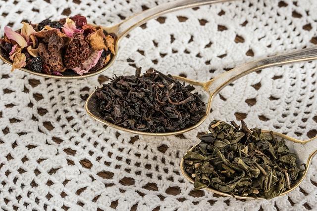 Tea Leaf, Black Tea, Green Tea, Fruit Tea, Teaspoon