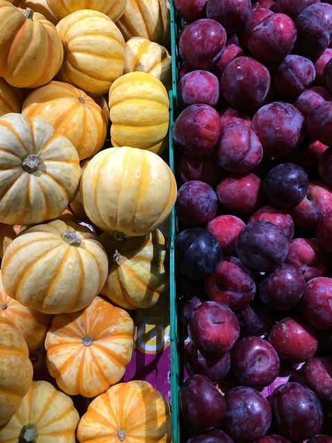 Fruit, Vegetable, Pumpkin, Plum