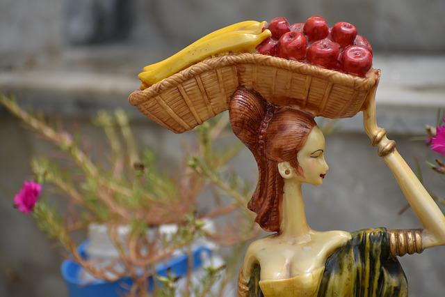 Fruit Woman, Seller, Figurine