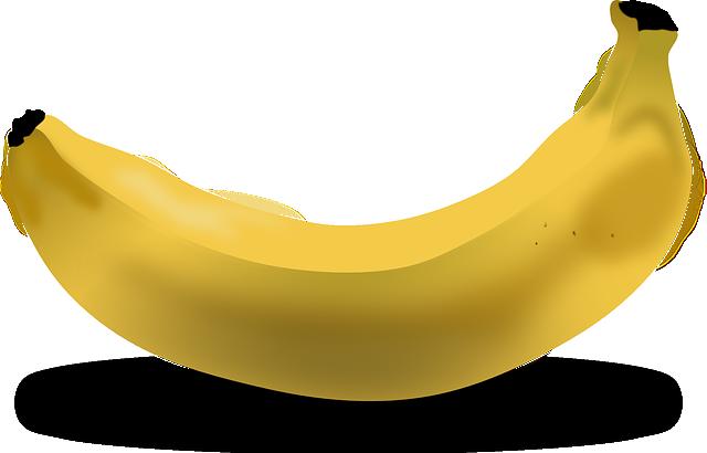 Banana, Fruit, Food, Yellow, Bent
