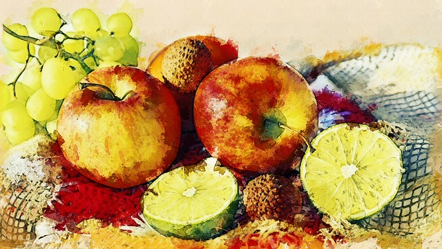 Fruit, Apple, Mandarin, Healthy, Decoration, Fruits