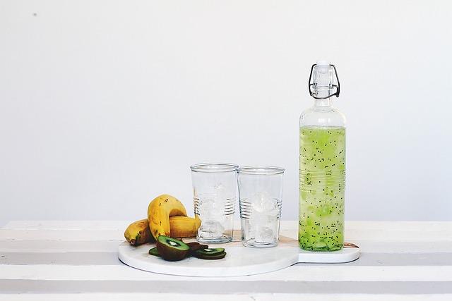 Bottle, Drink, Drinking Glasses, Food, Fruits, Juice