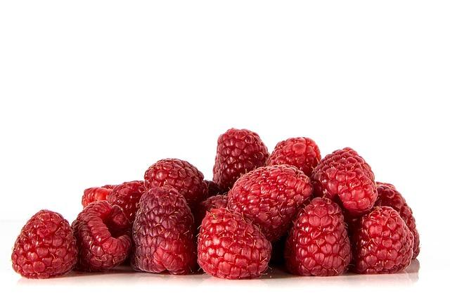 Raspberries, Fruits, Red, Food, Vitamins, Ripe