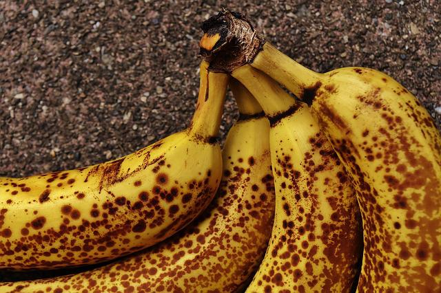 Bananas, Fruits, Fruit, Healthy, Yellow, Brown Spots