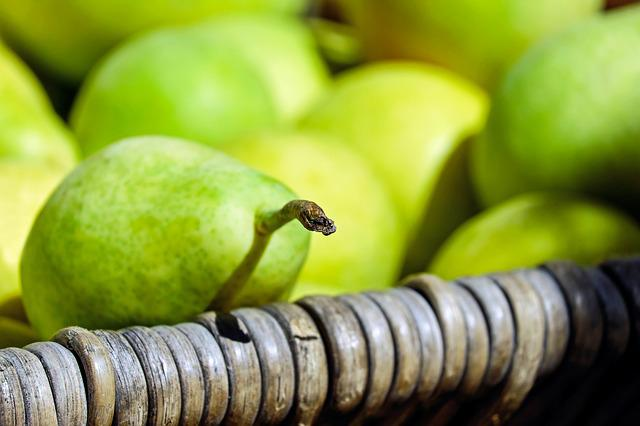 Pears, Fruit, Fruits, Green Yellow, Harvest