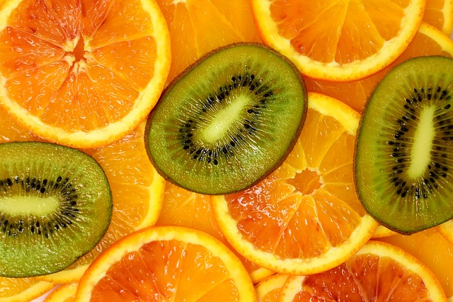 Orange, Kiwi, Delicious, Fruit, Vitaminhaltig, Fruits