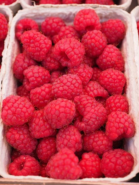 Raspberries, Berries, Fruits, Red, Vitamins, Sweet