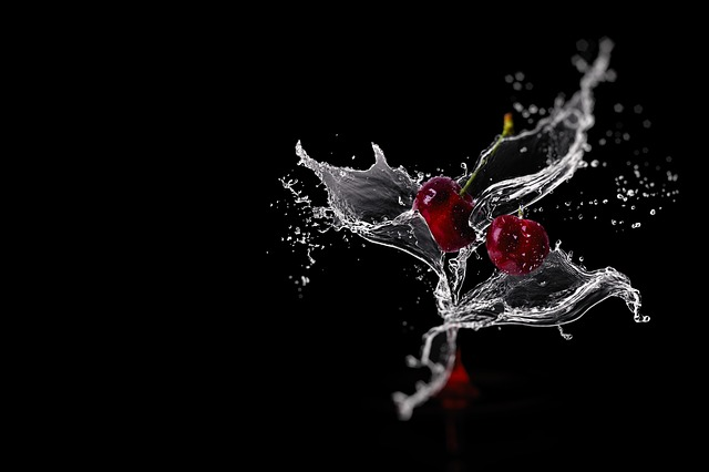 Cherries, Inject, Fruity, Refreshment, Water
