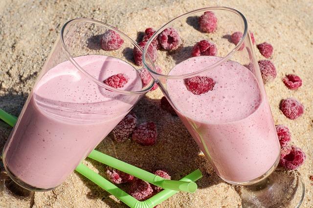 Drink, Fruity, Fruit, Raspberry, Red, Vitamins
