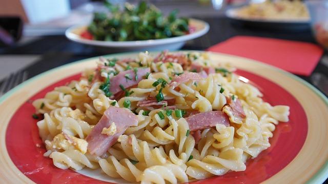 Noodles, Ham Pasta, Court, Fry Up, Pan, Fry, Sear, Ham