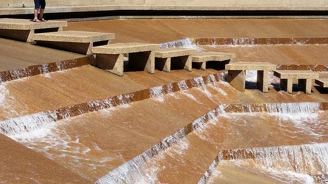 Water Garden, Ft Worth, Texas, Logan's Run, Fountain