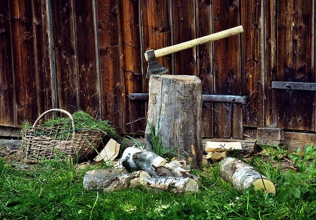 Fuel, Wood, Ax, Chopping, Logs, Tree