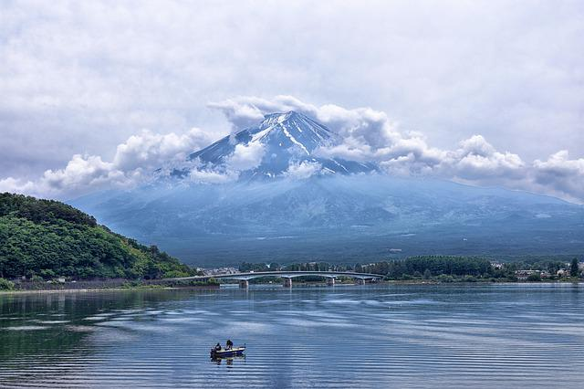 Japan, Mountain, Volcano, Fuji, Sky, Nature, Clouds