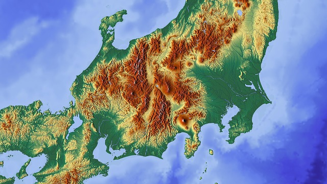 Japan, Tokyo, Fuji, Map, Relief Map, Mountain