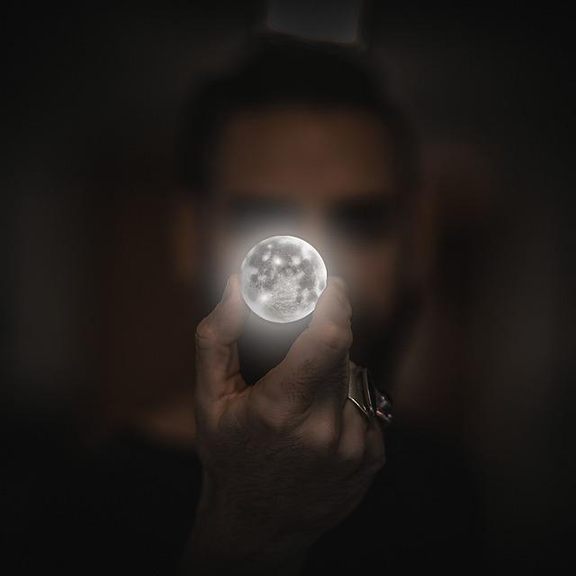 Man, Moon, Planet, Celestial Body, Full Moon, Universe