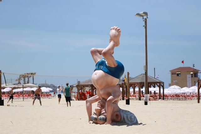 Beach, Tel Aviv, Statue, Sculpture, Artwork, Fun