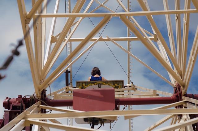 Ferris Wheel, Fair, Woman, Ride, Wheel, Fun, Ferris