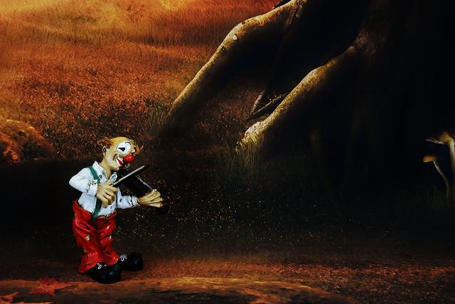 Clown, Funny, Music, Figure, Fun, Forest, Mood