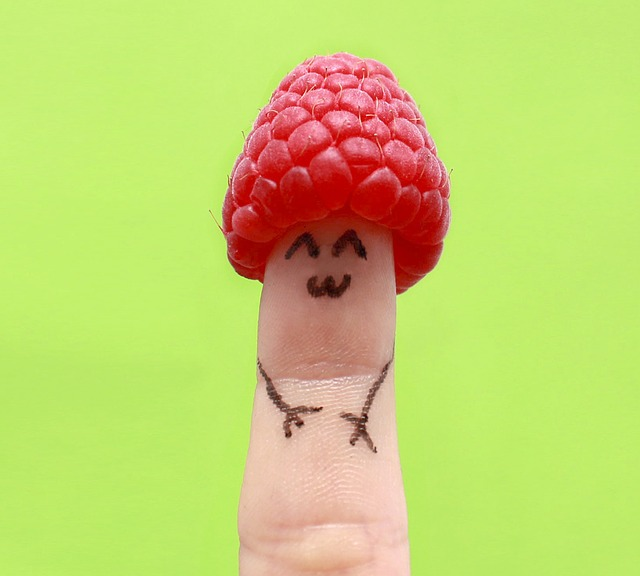 Finger, Fun, Raspberry, Happy, Face, Hand, Detail, Tiny