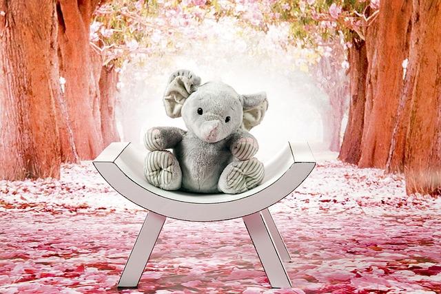 Elephant, Gray, Plush, The Mascot, Sitting, Toy, Fun