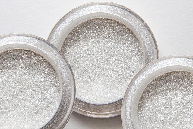 Glitter Powder, Structure, Fund, Silver, Cosmetics