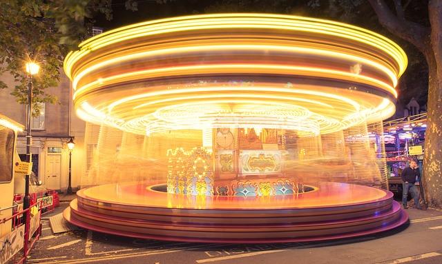 Funfair, Carousel, Wheel, Carnival, Party, Fair, Circus