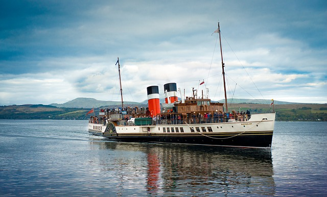 Waverley, Paddle Steamer, Scotland, Clyde, Funnel