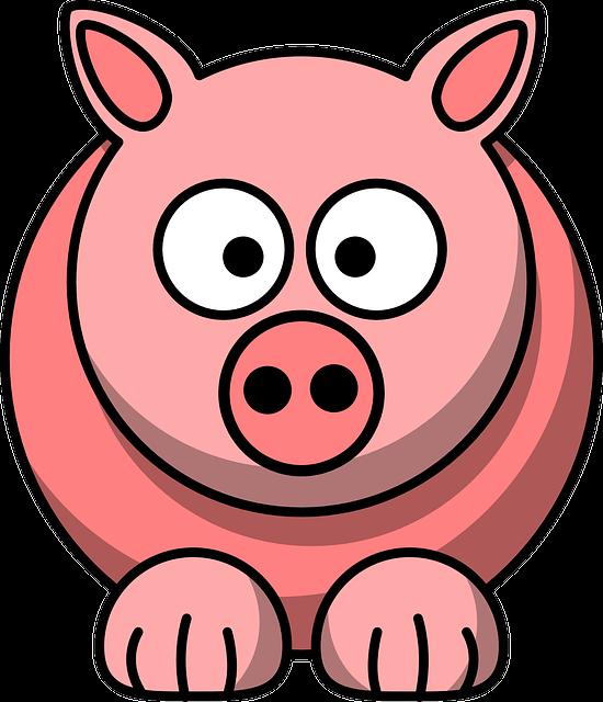 Animal, Pig, Pink, Cute, Face, Funny, Mammal, Head