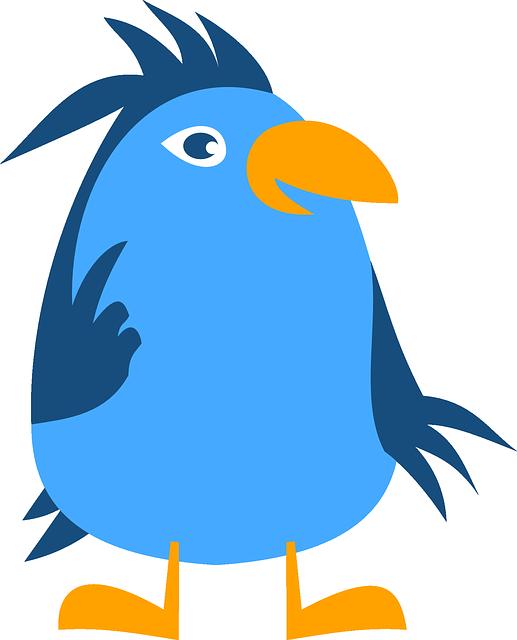 Animal, Bird, Blue, Funny, Happy, Cute