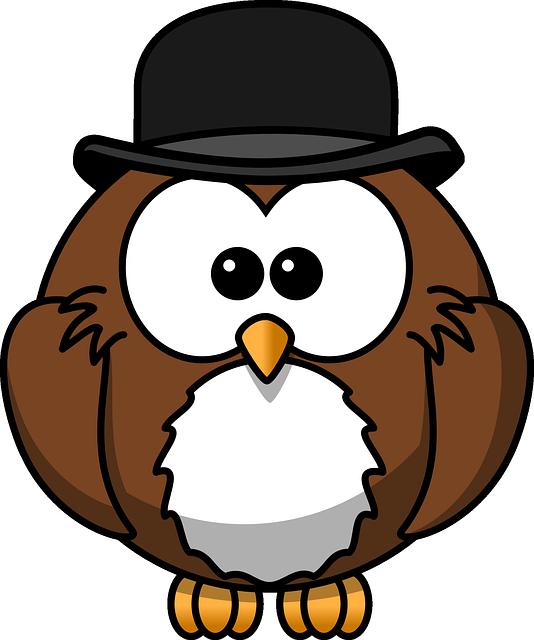 Owl, Animal, Bird, Bowler, Chaplin, Derby, Funny, Hat
