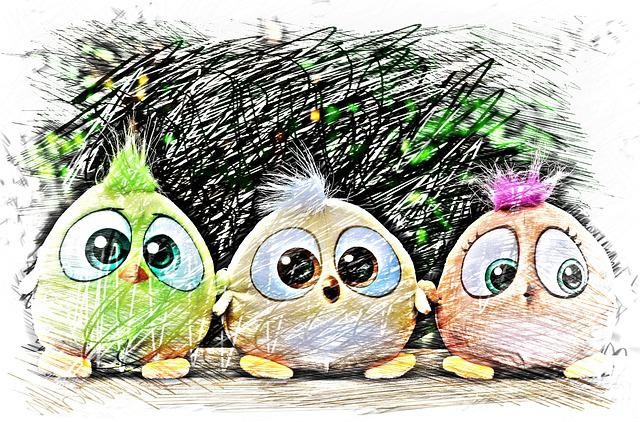 Bird, Birdie, Drawing, Colorful, Cute, Sweet, Funny