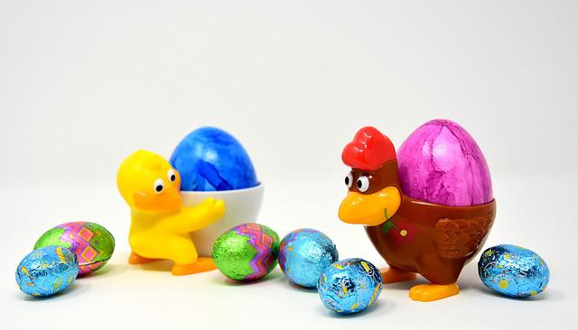 Easter Egg, Chicks, Chicken, Egg Cups, Funny, Colorful