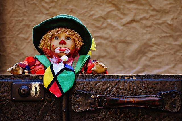 Doll, Clown, Farewell, Cute, Children, Funny, Sweet