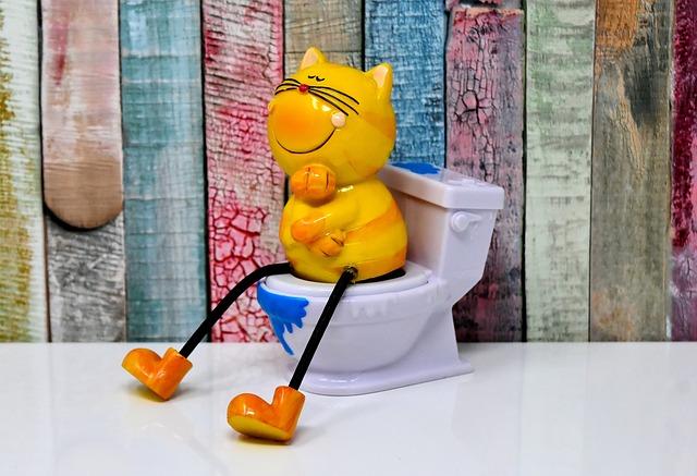 Litter Box, Toilet, Cat, Figure, Loo, Cute, Funny, Wc