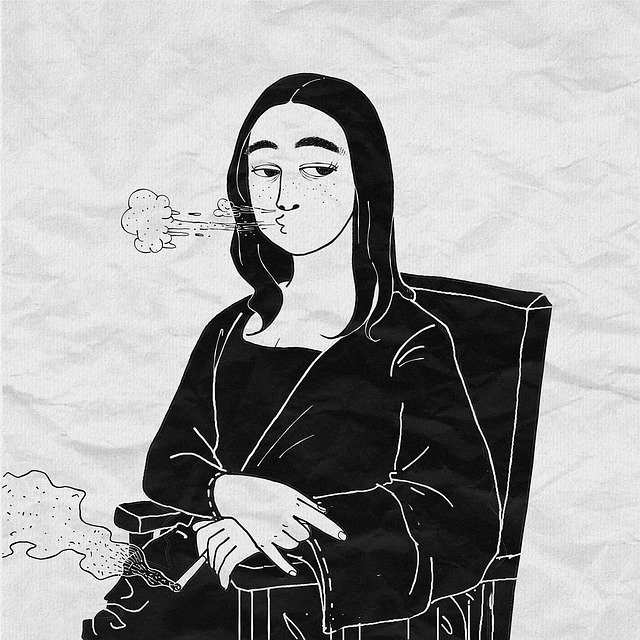 Fantasy, Mona Lisa, Smoking, Rebellion, Funny, Da Vinci