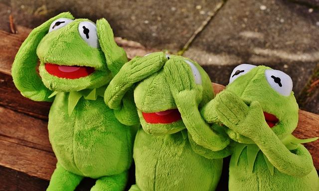Not Hear, Not See, Do Not Speak, Funny, Kermit, Frog