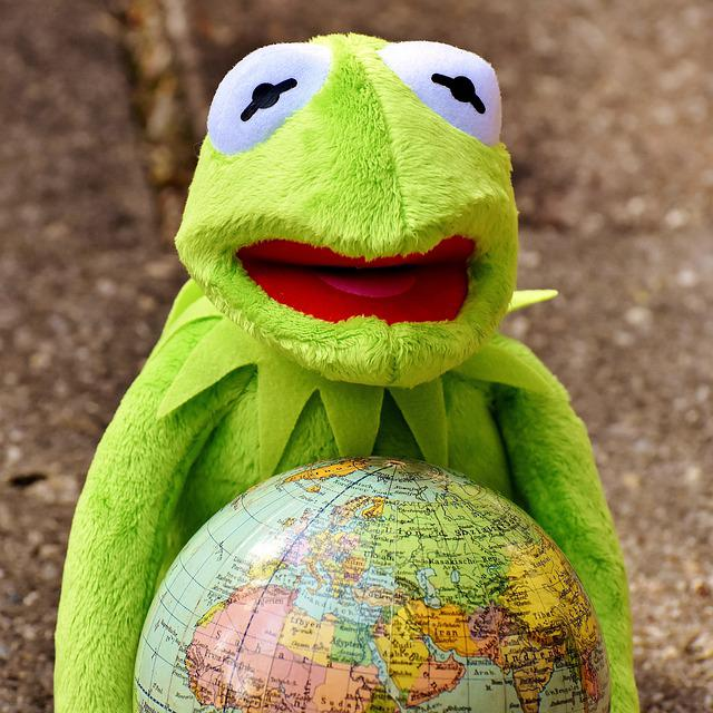 Free Photo Funny Happy Feelings Embrace The World Kermit