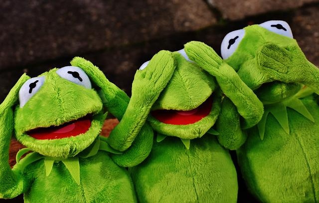 Not Hear, Not See, Do Not Speak, Funny, Kermit, Frog