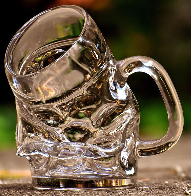 Beer Glass, Bent, Funny, Beer Mug, Drink, Refreshment