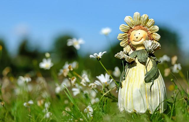 Figure, Child, Flower Child, Face, Funny, Summer, Deco