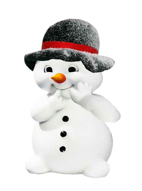 Winter, Snowman, Figure, Christmas, Deco, Funny