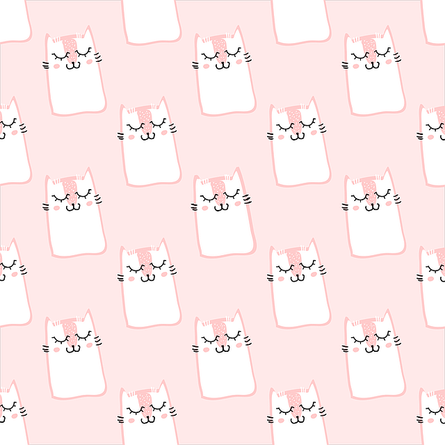 Pattern, Cat, Pink, Cute, Sweet, Fur, Cats, Fluffy Cat