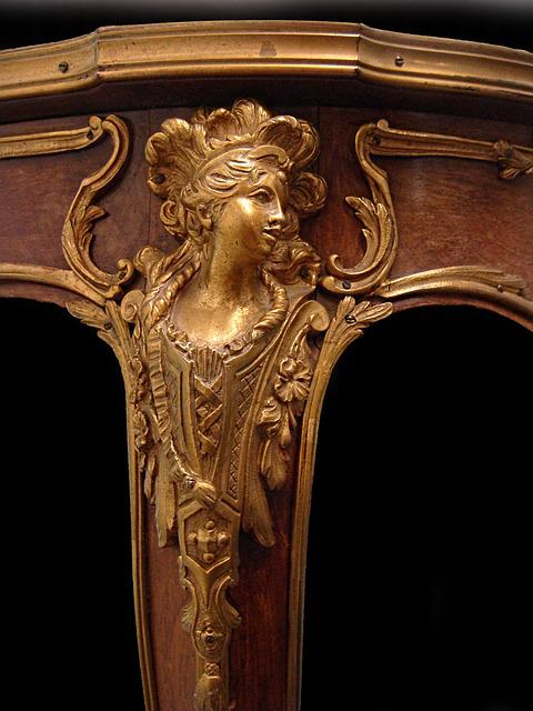 Furniture, Louis Xvi, Foot, Guéridon, Table, Bronze
