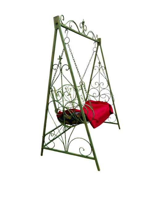 Swing, Furniture, Garden Furniture, Isolated