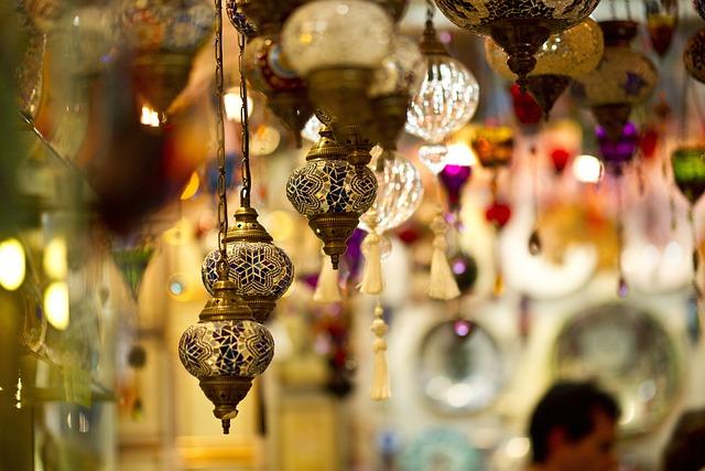 Lamp, Chandelier, Light, Souvenir, Istanbul, Furniture