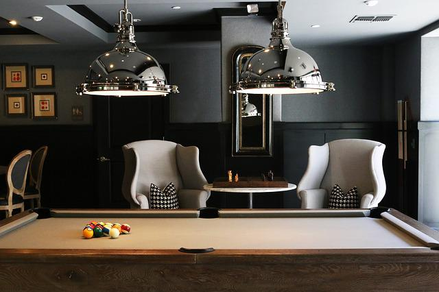 Billiard Table, Chairs, Furnitures, Indoors, Room