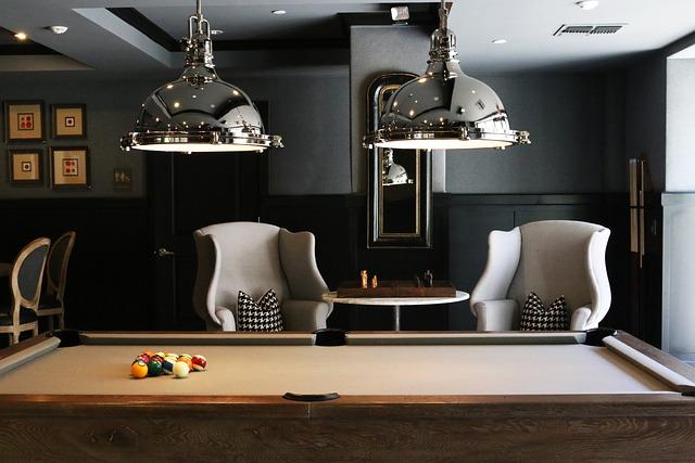 Billiard Table, Chairs, Furnitures, Indoors, Room